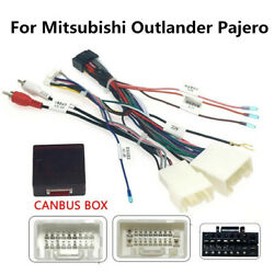 Car 16pin Audio Wiring Harness With Canbus For Mitsubishi Outlander Pajero 06-13