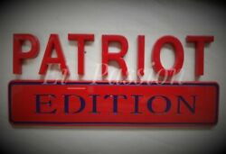 The Patriot Edition Red Blue Fit All Cars Hood Logo Decal Emblems New Ornament