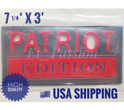 Patriot Edition Red And Blue Universal Decal Sign Side Car Truck Logo Emblem 3d