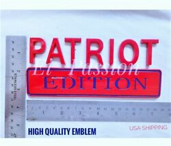 Patriot Edition Red And Blue Fit All Car Truck Ornament Emblems Best Quality Gift