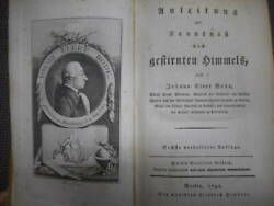 Antique Horoscope Astronomy Constellation Early Watch Picture 1792 Bodeand039s Star