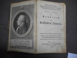 Antique Horoscope Astronomy Constellation Early Watch Picture 1788 Bode's Star