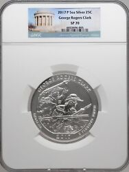 2017 P 5oz Silver 25c George Rogers Clark Ngc Sp 70 Perfect Key Date Must See