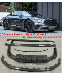 For 2020 Bentley Continental Gt 100y Limited Style Carbon Fiber Bumper Body Kit