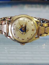 Vintage Tissot Automatic Bumper Knights Of Columbus Dial