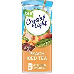 Crystal Light Peach Iced Tea Drink Mix 72 Pitcher Packets 12 Packs Of 6