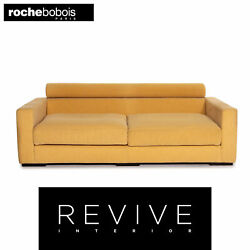 Roche Bobois Fabric Sofa Yellow Two Seater Function Couch 14508