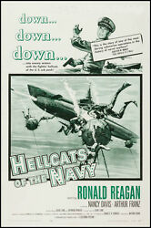Hellcats In The Navy Vintage Movie Poster Ronald Reagan 57