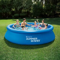Summer Waves 12 Ft Quick Set Ring Round Above Ground Swimming Pool Same Day Ship