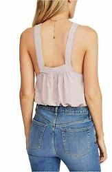 New Free People Casual Sandy Relax Tank Top Sz L Sleeveless Pink Blush Cotton