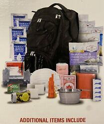 Survival Kit Emergency Backpack 5-day Food Water First Aid Whistle Playing Cards