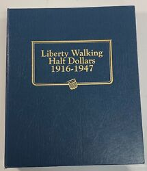 1916 - 1947 Walking Liberty Silver Half Dollar Complete 65 Coin Collection Set
