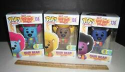 Funko Pop Hanna Barbera Hair Bear Bunch Set Of 3 - Vaulted 136 2016 Excl. 750 Pc