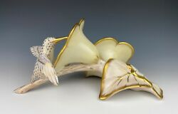 Herend Fishnet Hummingbird On Flowers Gold Guild Limited Edition 119/225