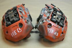 2011 Mb W212 Mercedes E63 Amg Brembo Front Left And Right Brake Calipers Pair
