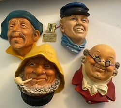 Set Of Four Rare Bosson Heads All Four Bossons Included