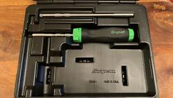 Snap On Ratchet Screwdriver Set With 2 Shafts + 5 Bits In Green New