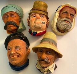 Set Of Five Rare Bosson Heads All Five Bossons Included