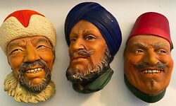 Three Very Rare Bosson Heads All Three Bossons Included In This Set