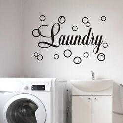Laundry Room Vinyl Wall Decals Quotes Art Stickers Removable DIY Home Decor