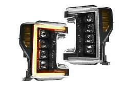 Morimoto Xb Led Headlights With Amber Drl Ford Super Duty 2017-2019 Plug And Play