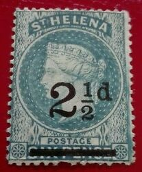St Helena1884 -1894 Queen Victoria 2½ /6p. Rare And Collectible Stamp.