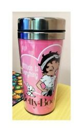 Betty Boop Collectible Attitude Is Everything Thermos Travel Mug Licensed New