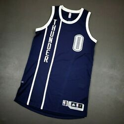 100 Authentic Russell Westbrook 2015 Thunder Game Issued Jersey L+2