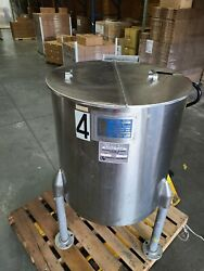 60-gallon Perma-san 316 Stainless Steel Jacketed Mixing Tank Pharmaceutical And Co