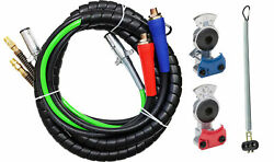 3in1 12ft Abs And Air Line Hose Wrap 7 Way Electrical Cable Gladhands 25 Spring