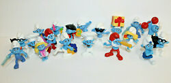 Vintage Lot 19 Smurfs Schleich Pvc Figures 1970and039s And 1980and039s
