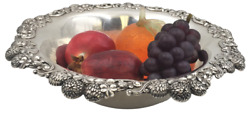 And Co. 1898 Large Sterling Silver Clover Berry Bowl In Art Nouveau Style