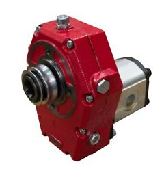 Hydraulic Cast Iron Pto Gearbox And Group 3 Pump Assembly 39cc 63 L/min 24.28