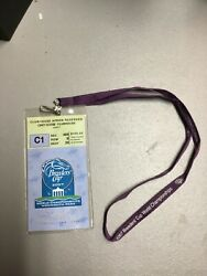 2007 Breeders Cup Clubhouse Ticket And Lanyard-monmouth Park Winner Curlin