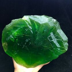 5480g Beauty Crystal Clear Green Cube Jelly Fluorite Mineral Specimen/china