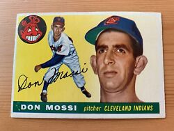 1955 Topps Don Mossi Rc 85 Rookie Cleveland Indians