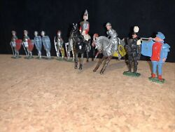Britains Charbens Lead Toy Crusader Figurines Lot 10