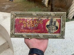 1788 Collectible Passing Show Cigarettes Carreras London Wall Hanging Tin Frame