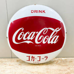 Coca Cola Enamel Signboard Button Sign Circle Diameter 58cm 60 Things At The