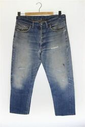 Levi 60s 70s/501/bige/chain Stitch/foot Length R/button Back 2/straight