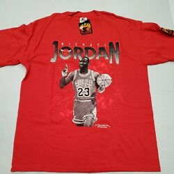 Nwt Vintage Chicago Bulls Starter Michael Jordan Red T-shirt Xl New Without Tag