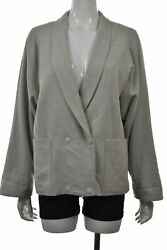Lacoste Womens Jacket Size 42 10 L Gray Speckled Softshell Long Sleeve Wool