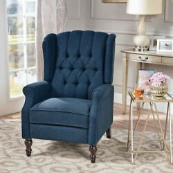 Blue Reclining Accent Chair Living Room Furniture Sets Chairs Recliners Bedroom