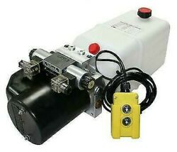 Flowfit 12v Dc Double Acting Hydraulic Power Pack With Tank Back Up Hand Pump