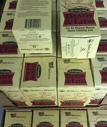96 Golden Harvest Regular Mouth Mason Ball Canning Lids And Rings 8 Box Of 12 Usa