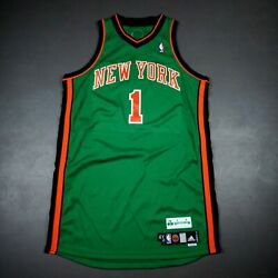 100 Authentic Amare Stoudemire St. Patrick's Day Knicks Game Issued Jersey