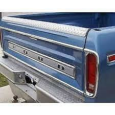 1973 - 1979 Ford Truck F-100 F-150 Tail Light Stainless Trim Landr