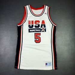 100 Authentic David Robinson 1992 Usa Olympics Game Jersey 44 Issued Pro Cut