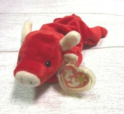 Tabasco Red Bull 4th 3rd 4002 PVC 1995 Retired Ty Beanie Baby Collectible Mint