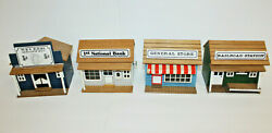 Vintage Chinese Craftsman Wooden Music Box Lot Of 4 Rare- General Store Saloon